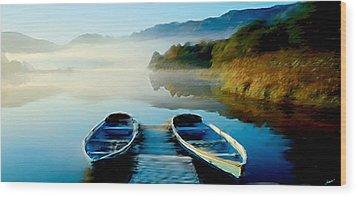 Derwent Water  Wood Print by Neil Kinsey Fagan