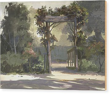 Descanso Gardens Wood Print
