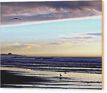 Descendants As Many As The Sand On The Shore Of The Sea Wood Print by Sharon Soberon
