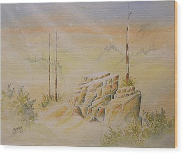 Wood Print featuring the painting Deschutes Canyon by Richard Faulkner