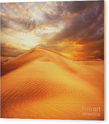 Desert Art Wood Print by Boon Mee