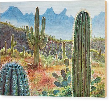 Desert Beauty Wood Print by Frank Robert Dixon