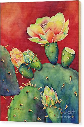 Desert Bloom Wood Print by Hailey E Herrera