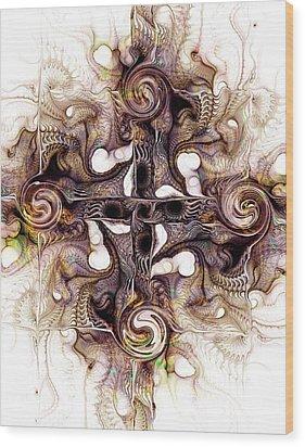Desert Cross Wood Print by Anastasiya Malakhova