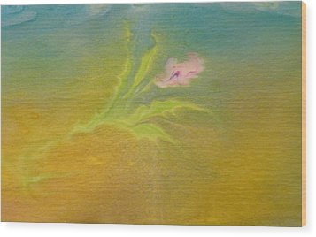 Wood Print featuring the painting Desert Flower by Mike Breau