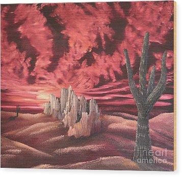 Desert Fury Wood Print by John Kemp