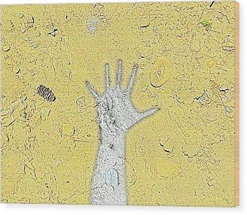 Desert Hand Wood Print