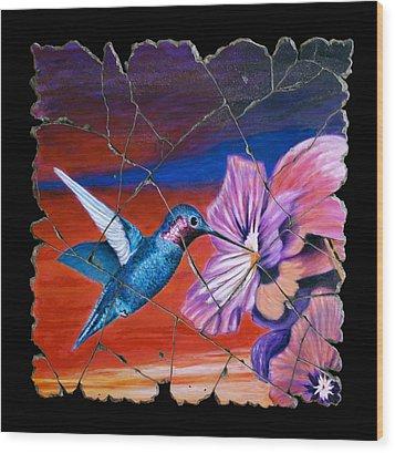 Desert Hummingbird Wood Print by Steve Bogdanoff