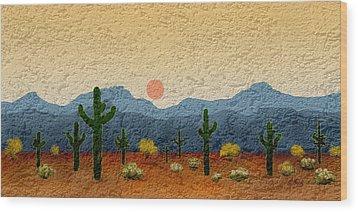 Desert Impressions Wood Print