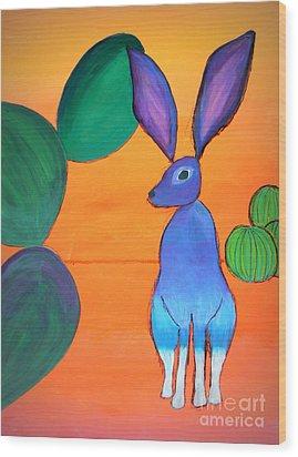 Desert Jackrabbit Wood Print