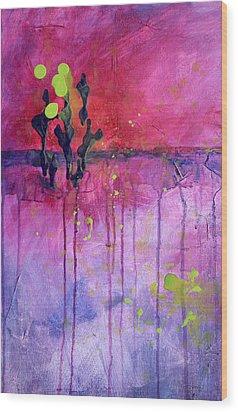 Desert Landscape Abstract Wood Print by Nancy Merkle
