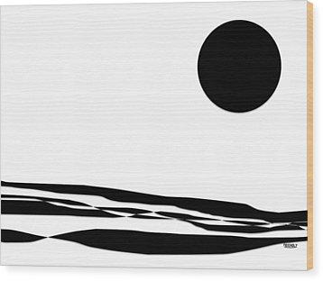 Desert Moon Wood Print