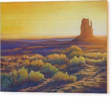 Desert Morning Wood Print