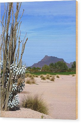 Wood Print featuring the photograph Desert Mountain by Mike Ste Marie