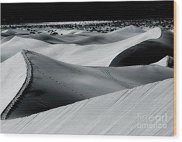 Desert Night Death Valley By Diana Sainz Wood Print by Diana Sainz