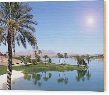Wood Print featuring the photograph Desert Oasis by Stephen Flint