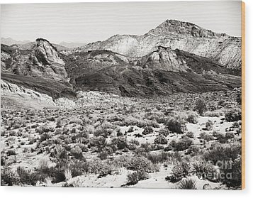 Desert Peaks Wood Print by John Rizzuto