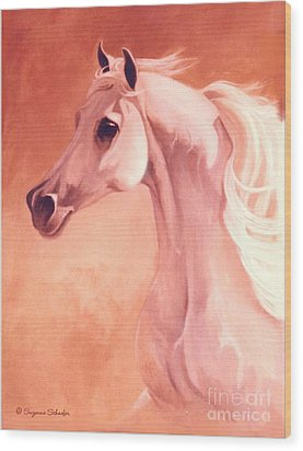 Desert Prince Arabian Stallion Wood Print by Suzanne Schaefer