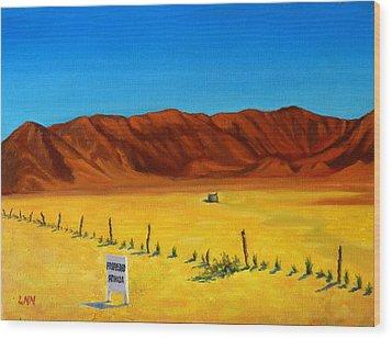 Desert Privacy Wood Print