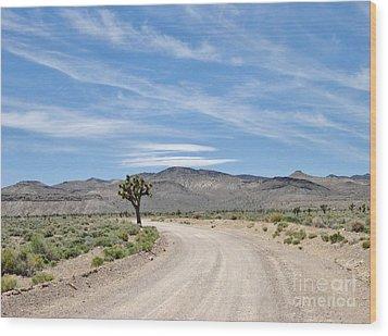 Desert Road Wood Print by Marilyn Diaz