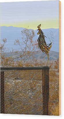 Desert Sentinel Wood Print by Dan Redmon