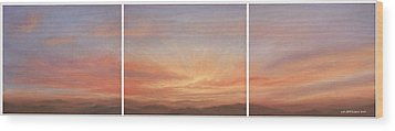 Desert Sky Triptych Wood Print