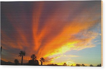 Desert Storm Wood Print by Chris Tarpening