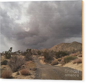 Desert Storm Come'n Wood Print by Angela J Wright