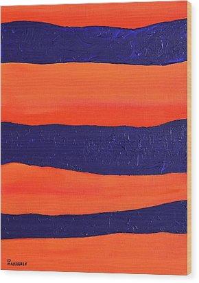 Desert Streams Wood Print