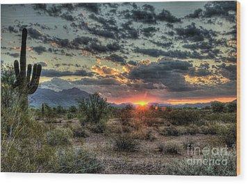 Desert Sunrise  Wood Print by Saija  Lehtonen