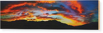 Desert Sunset 15 Wood Print by Chris Tarpening