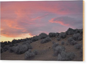 Wood Print featuring the photograph Desert Sunset by AJ  Schibig