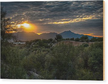 Wood Print featuring the photograph Desert Sunset by Dan McManus