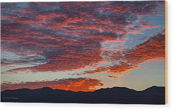 Desert Sunset Wood Print by Ross Henton