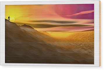 Wood Print featuring the digital art Desert Sunset by Tyler Robbins