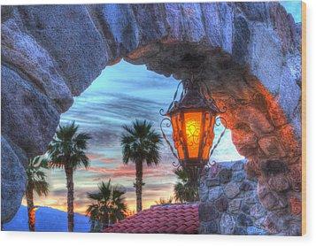 Desert Sunset View Wood Print by Heidi Smith