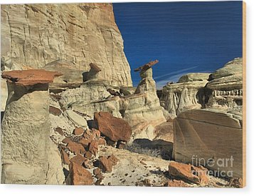 Desert Towers Wood Print by Adam Jewell