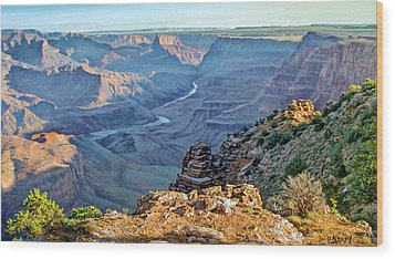 Desert View-morning Wood Print by Paul Krapf