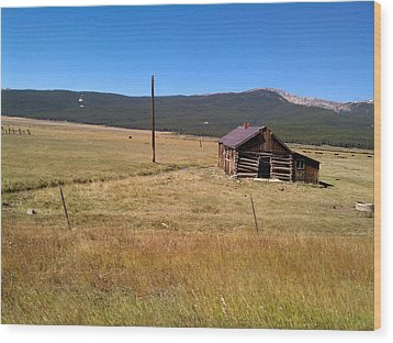 Wood Print featuring the photograph Deserted Cabin by Fortunate Findings Shirley Dickerson