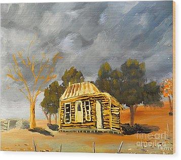 Deserted Castlemain Farmhouse Wood Print