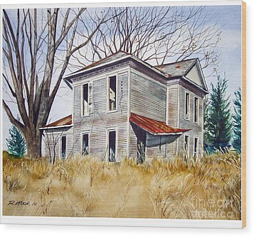 Deserted House  Wood Print by Rick Mock