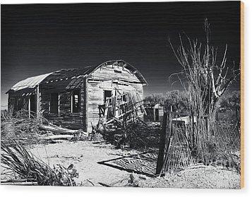 Deserted In The Desert  Wood Print by John Rizzuto