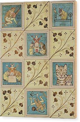 Design For Nursery Wallpaper Wood Print by Voysey