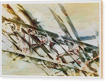 Design In Steel Wood Print by Davina Washington