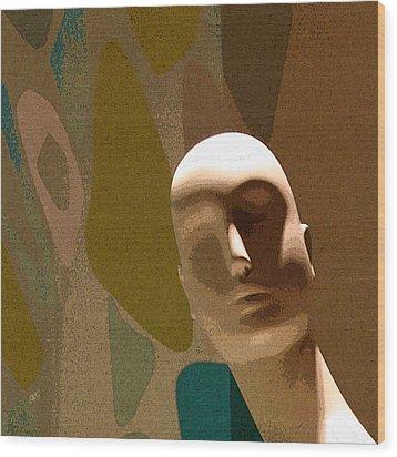 Design With Mannequin Wood Print by Ben and Raisa Gertsberg