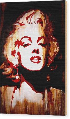 Desire Marilyn Monroe Wood Print by Brad Jensen