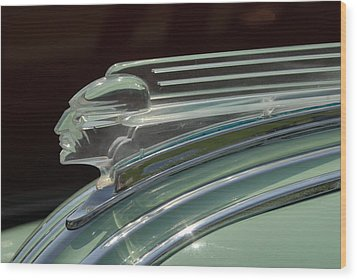 Wood Print featuring the photograph Desoto Hood Ornament  by Craig Perry-Ollila