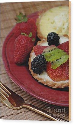 Dessert Tarts Wood Print by Amy Cicconi