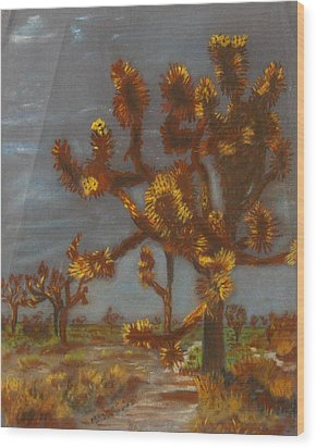 Dessert Trees Wood Print by Michael Anthony Edwards