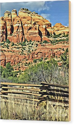 Wood Print featuring the photograph Dessert View by Lori Mellen-Pagliaro